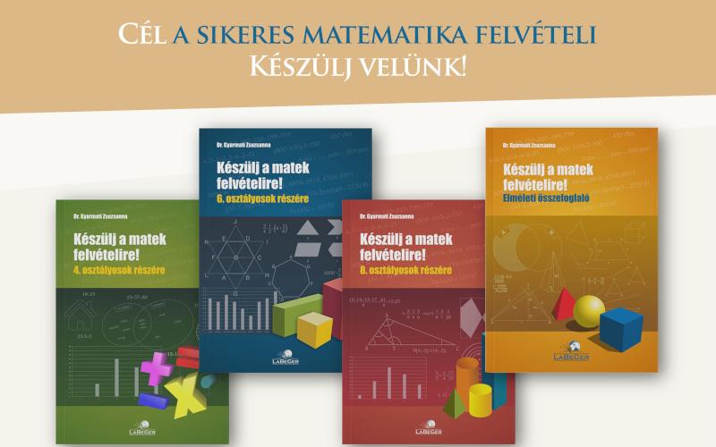 Matek felvételi könyvek
